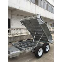 China Heavy Duty Galvanised 8x5 Tipping Trailer , Hydraulic Electric Tipper Trailers wholesale