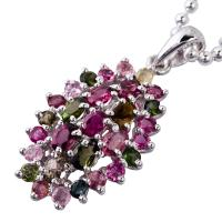China Factory Price and Fashion Crystal Silver Gemstone Pendant K-BC-C672 wholesale