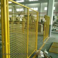 China Yellow Color Welded Workshop Metal Fence / Warehouse Isolation Fence wholesale