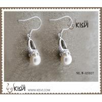 China OEM / ODM customed 925 sterling silver gemstone earrings with imitated pearl W-AS937 wholesale