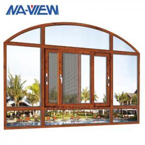 China Best Sliding Glass Windows OEM Low Price Aluminium Curved Sliding Window Chinese Supplier wholesale