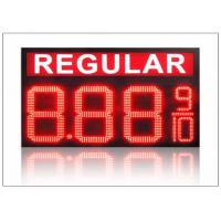 China IP68 LED Gas Station Sign / 4 digits number display with 110° Viewing angle , steel shell wholesale