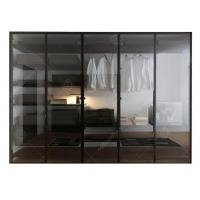 China Italian Style Glass Door Small Wardrobe With Drawers , Modern Freestanding Wardrobe Closet wholesale
