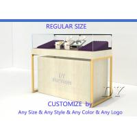 Quality Quarter Vision Jewellery Shop Display Counter With LED Pole lights for sale