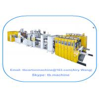 Buy cheap corrugated carton box production line inline 4 color printing die cutting gluer strapping machine product