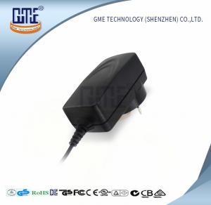 China Wall Mount Switching Power Adapter Black AU Plug 400mA Max Input Current wholesale