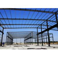 China Glass Cover Steel Frame Greenhouse , Galvanized Steel Greenhouse Frame Studdy wholesale