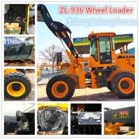 Quality CE 75KW wheel loader with snow blade and bucket for sale