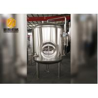 China Flat Bottom Brite Beer Tank 300L SS / Red Copper Material With Cooling Jacket wholesale