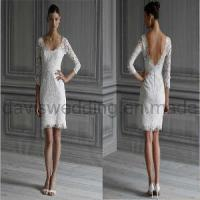 China Long Sleeve Short Lace Wedding Dress Prom Dress (H-56) wholesale