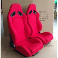 China Adjustable Racing Style Car Seats , Automotive Racing Seats Suede Material wholesale