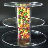 China Unique Candy Acrylic Clear Food Display Stands 300pcs Tower Tube wholesale