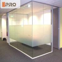 China Soundproof Modular Office Walls , Insulated Glass Office Partitions on sale