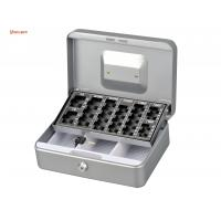 China Customized Antitheft Metal Cash Box Euro Money Safe With Removable Coin Tray on sale