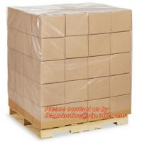 China LDPE Bin lliners Gaylord Liners Pallet Top Covers, 4 Mil Clear Pallet Covers, Customized plastic reusable pallet covers on sale