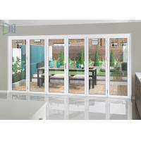 China Heavy Duty Aluminium Folding Doors with Single / Double Tempered Glazing wholesale