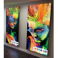 China Full Color CYMK Wall Mounted Light Box Single Sided Square Or Rectangle Shape wholesale