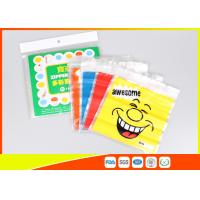 Stand Up Biscuit Pe Plastic Reselable Pouches / Custom Food Grade Plastic Bags