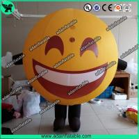 China Advertising Happy Face Inflatable QQ Inflatable Customized Walking Smile Ball Costume wholesale