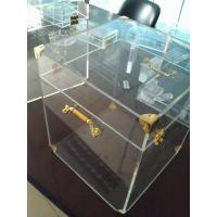 China 4mm Acrylic Display Case Clear , Plexiglass Storage Boxes with Lids wholesale