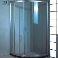 China Frameless Safety Tempered Glass Shower Enclosure With Four Wheel Rollers wholesale