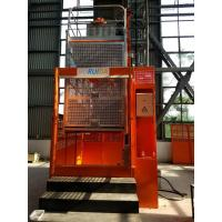 Quality 2 Tons 60m Orange Painted Rack And Pinion Hoist , Material Lifting Equipment for sale