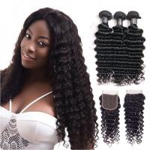 China 30 Inch Deep Wave Peruvian Hair / 100 Remy Human Hair Weave Shedding - Free wholesale