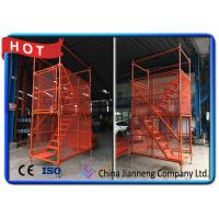 China Galvanized Construction Building Steel Ladder Cage / Metal Scaffolding Ladder Cage wholesale
