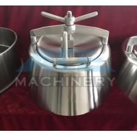 China SS304 SS316L Stainless Steel Round Tank Cover Manway With Glass Panel wholesale