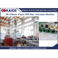 China 20-110mm Multilayer PPR pipe with Glassfiber Layer Extrusion Machine speed 28m/min wholesale