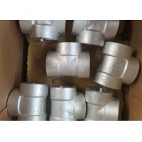 China 4 Inch Threaded Forged Stainless Steel Pipe Fittings / Stainless Steel Tees / Equal Tee on sale