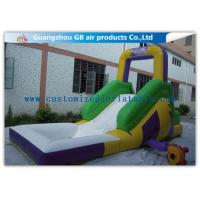 China Funny Game Small Inflatable Water Slide / Kids Inflatable Garden Water Slides wholesale