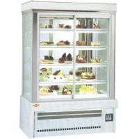 China Pizza Salad Cake Display Cooler For Bakery Shop With 1.2 / 1.5 / 2m Four Sides Transparent Glass wholesale