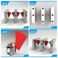 China Anti Collision Anti Rushing Half Height Turnstile Flap Barrier Gate Used In Subway Bus Stration wholesale