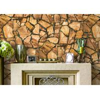 China 3D Effect Stone Pattern Durable Popular Wallpaper For House Wall With Pvc Material wholesale