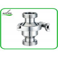 China Hygienic Grade Sanitary Check Valve With Male Thread Connection , High Sealing Function wholesale