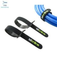 China Easy Wrapping Reusable Cable Ties , 100% Nylon Hook And Loop Cable Ties With Logo Custom wholesale