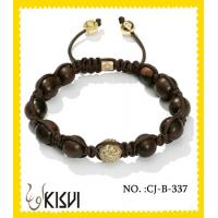China High quality guarantee10mm crystal & alloy round beaded crystal bracelets wholesale
