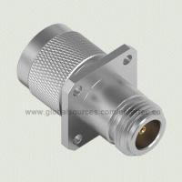 China RF N Type Coaxial Connector with N M S/T Plug to N F S/T Jack 4-hole Panel Mount Adapter wholesale