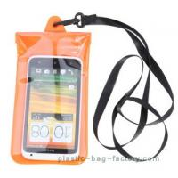 Quality Soft PVC Waterproof Pouch Bag Colorful Cover Guaranteed Submersible To 19ft / 6m for sale