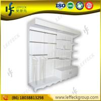 China Shopping mall use high quality wood material shoe store display racks on sale