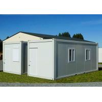 China Gable - Roof Modular Container House , Steel Door Fireproof White Container House wholesale