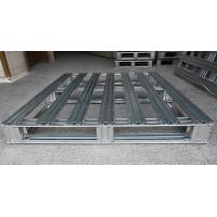 China Heavy Duty Metal steel spill pallets , stackable steel pallets 2 Way  Entry wholesale
