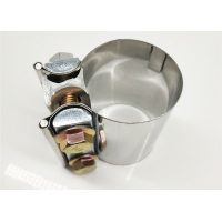 China Catalytic Converter / Muffler / Catback Pipe 3 Inch Stainless Steel Exhaust Clamps wholesale