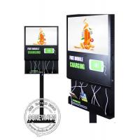 Quality 21.5 inch LCD Android Wifi Digital Signage with mobile phone charging station for sale