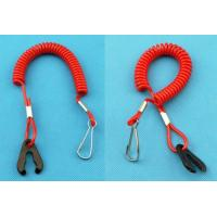 China Popular Factory Direct Red Elastic Coil-style Jet Ski Safety Spring Leash w/J-hook&Stop Switch Tool wholesale