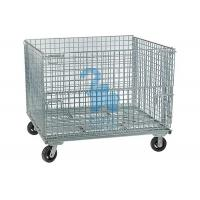 China Stackable Rodent Proof Wire Mesh Storage Cages On Wheels Φ6mm Wire Size wholesale