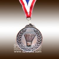 China lowest price of high performance copper sports medal/metal medal wholesale