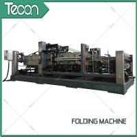 China Energy Saving Cement Paper Bag Folding Machine , Bottom Width 100 - 150mm wholesale