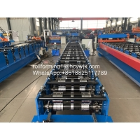 China Cr12 0.7mm Self Locking 400mm Roofing Sheet Roll Forming Machine wholesale